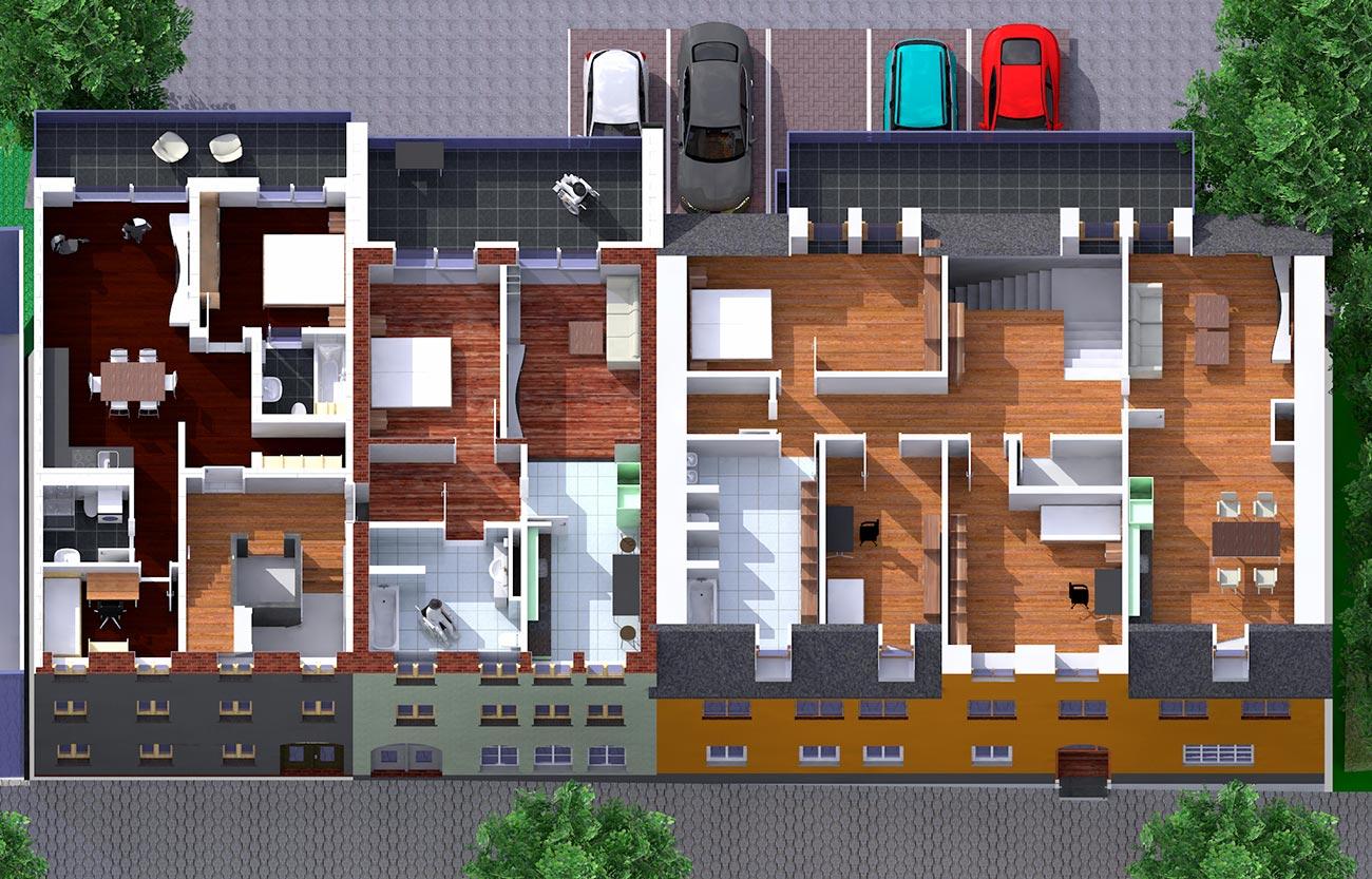 Wohnungen im 2. OG / Schlosscarree