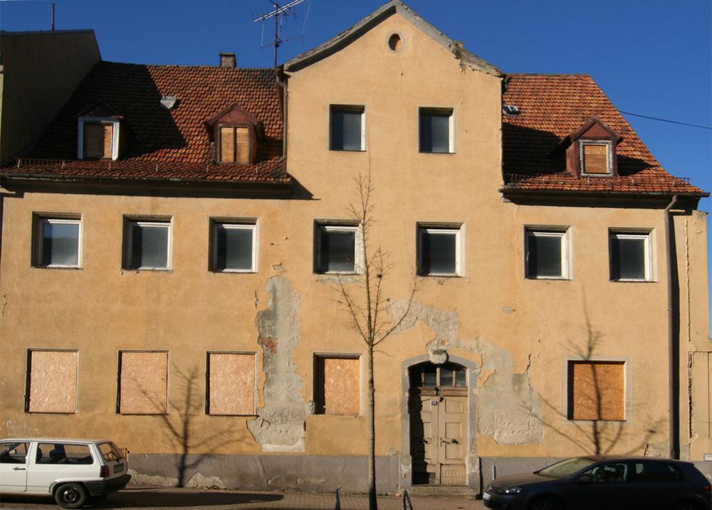 Mietshaus in Frankenberg - vor der Sanierung