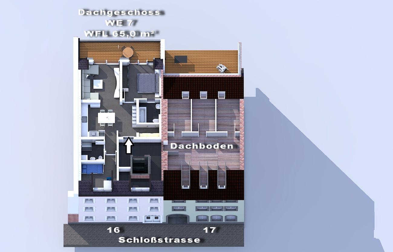 Dachgeschoss / Mietwohnungen im Frankenberger Schlosscarree
