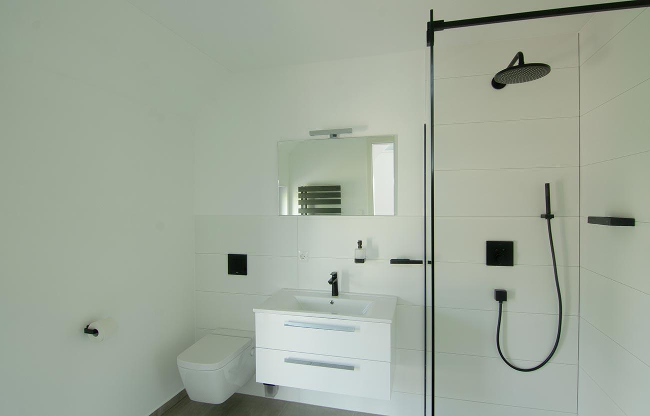 Modernes Einfamilienhaus in Frankenberg - Badezimmer