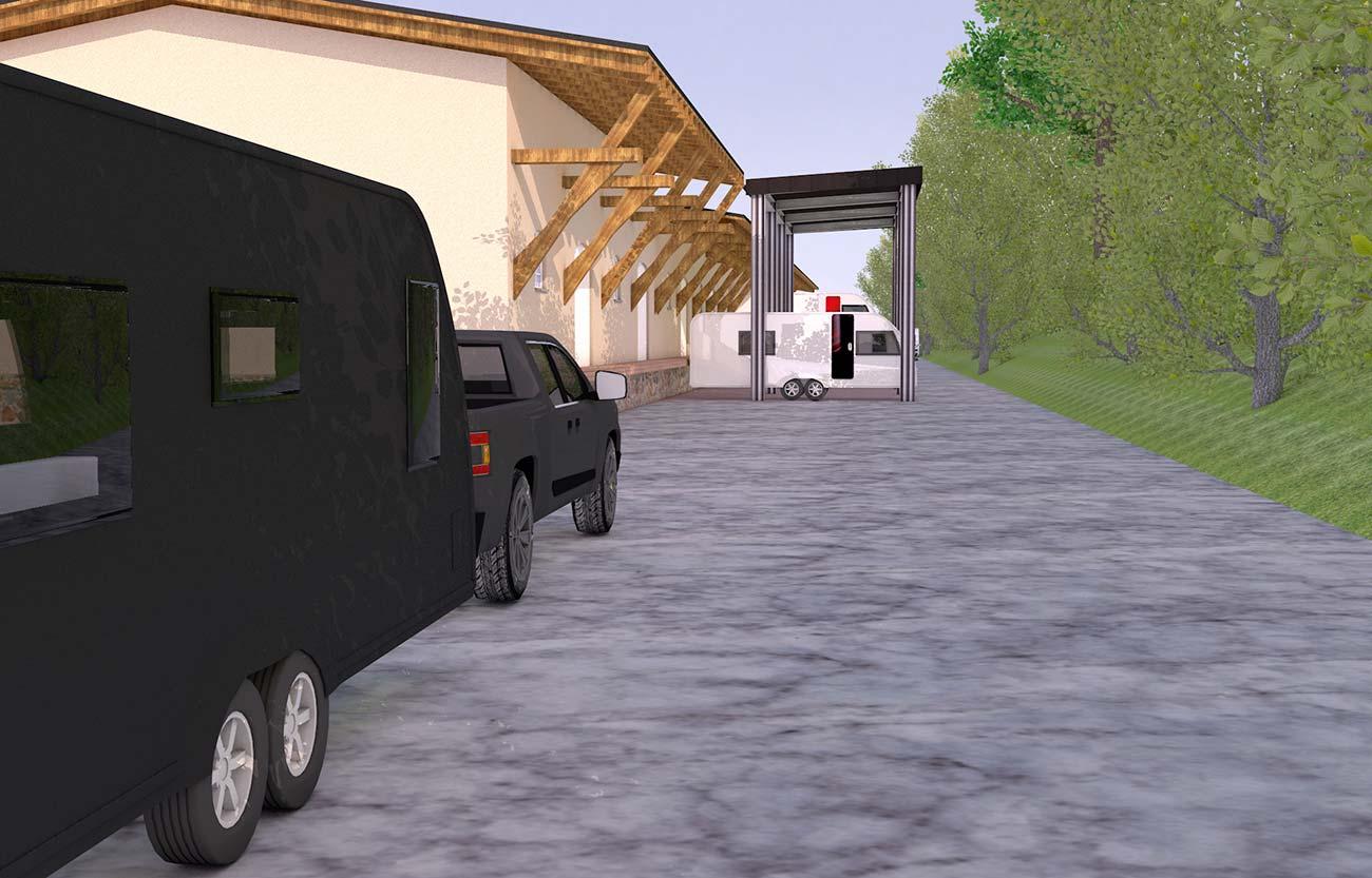 Stellplatz für Wohnwagen in Frankenberg