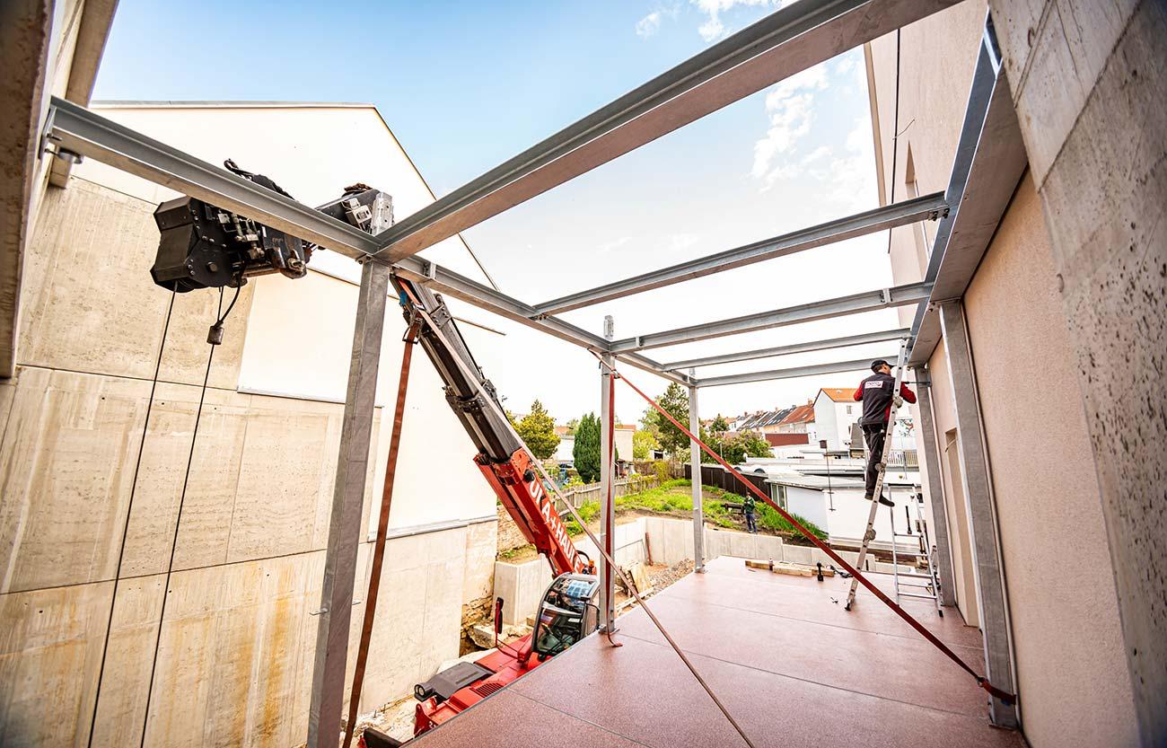 Bau der Balkonanlage 2021
